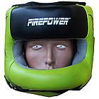 Шлем боксерский с бампером FIREPOWER FPHG6 Black/Green, фото 2