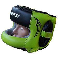 Шолом боксерський з бампером FIREPOWER FPHG6 Black/Green