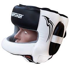 Шолом боксерський з бампером FIREPOWER FPHG6 Black/White