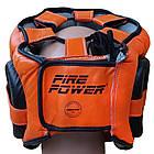 Шлем боксерский с бампером FIREPOWER FPHG6 Black/Orange, фото 3
