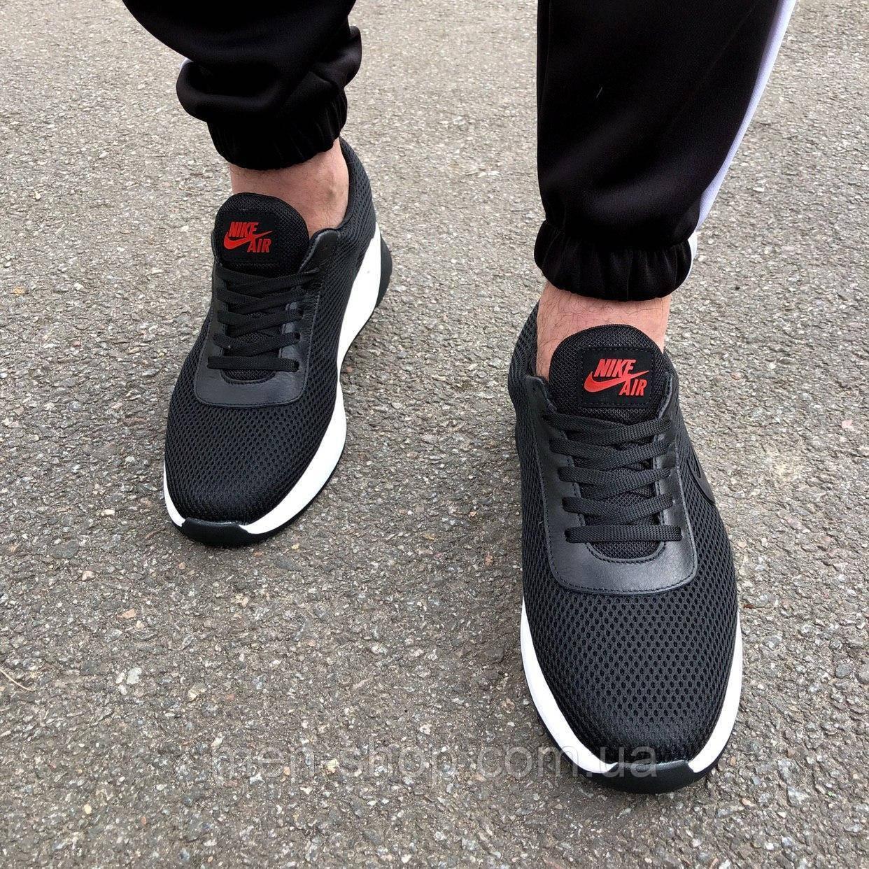 Кроссовки черные мужские в стиле Nike Air