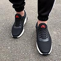Кроссовки черные мужские в стиле Nike Air, фото 1