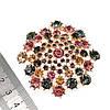 Брошка SONATA,  разноцветные фианиты, позолота 18K,  95970                                                 (1), фото 3