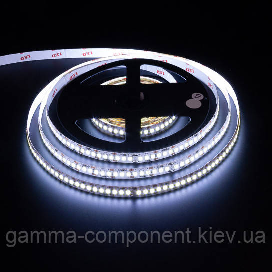 Светодиодная лента 12В AVT New PROFESSIONAL SMD 3528 (120 LED/м), белый холодный, IP20 - бобины от 5 метров