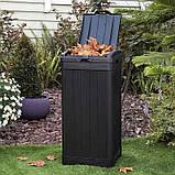 Контейнер для сміття Keter Baltimore Waste Bin 125 L, фото 6