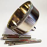 Алмазна Коронка по плитці і склу 85 мм, Коронка 85 мм з алмазним напиленням по склу та кераміці, фото 2