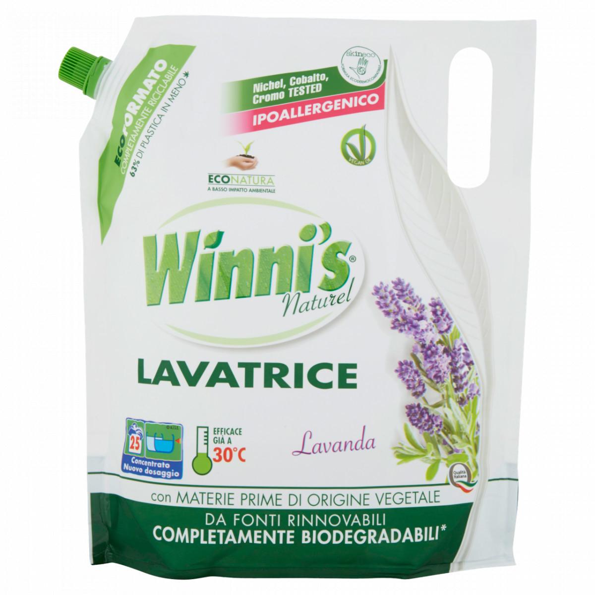 Гель для стирки любых типов волокон и деликатной одежды 1500мл Winnis lavatrice Lavanda 8002295034687
