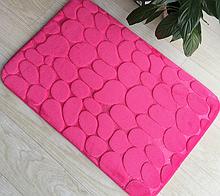 Плюшевый коврик «Галька» розовый 40×60 см