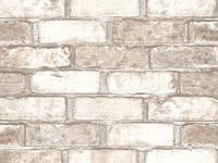 Обои Виниловые на бумажной основе 05м Славянские обои 552201 Кирпич 0,53м X 10,05м Бежевый 4824033171201