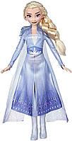 Модная кукла Disney Frozen Эльза с длинными светлыми волосами и синим нарядом