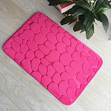 Плюшевый коврик «Галька» розовый 50×80 см