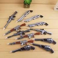 Ручка шариковая ''Оружья'' (0,5mm,48шт\дисплей, разные дизайны (мечи, пистолеты, автоматы).