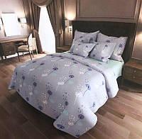 Комплект полуторного постельного белья с одуванчиками (светлое)