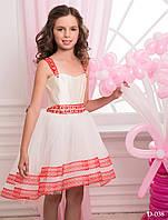 Обворожительная детское платье с нежным поясом и лямками