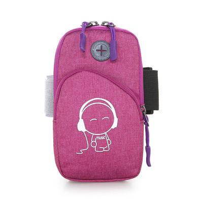 Розовая сумка для бега, сумка - чехол на руку Music