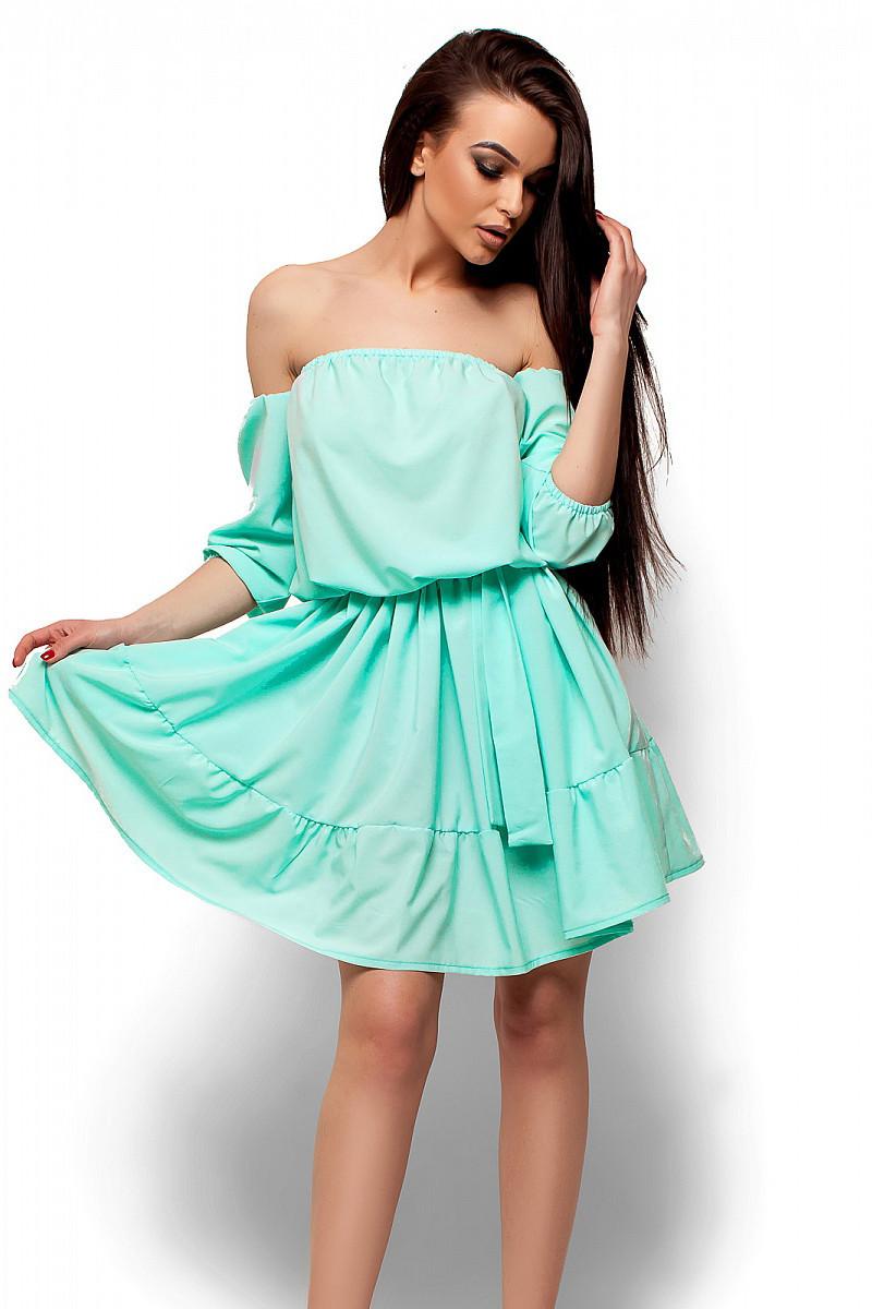 S-M   Жіноче літнє ментолове плаття Sarlin