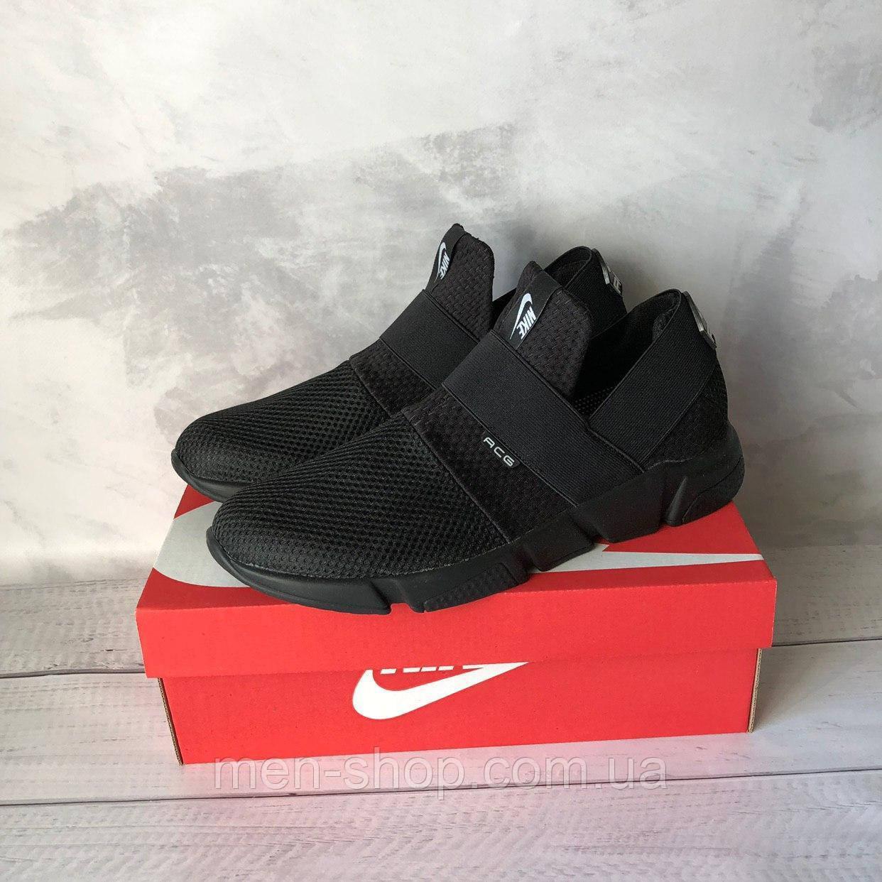 Кроссовки черные мужские в стиле Nike ACG