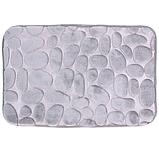 Набір з 2-х плюшевих килимків «Галька» 50×80 см, сірий, фото 5
