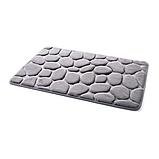 Набір з 2-х плюшевих килимків «Галька» 50×80 см, сірий, фото 6