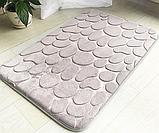 Набір з 2-х плюшевих килимків «Галька» 50×80 см, сірий, фото 4