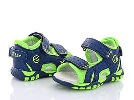 Детские босоножки Clibee для мальчика ,размеры 18,19,20,21,23 (синий-салатовый)