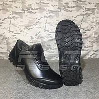 Кроссовки Энерджи кожа черные на шерсти
