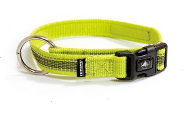 Ошейник для собак HIKING ANTISHOCK, регулируемый, зеленый, нейлон, 1,5x30-40см, Croci