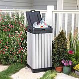 Контейнер для мусора Keter Rockford Waste Bin 125 L, фото 9