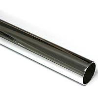 Труба меблева d-25мм, хром, 0,9 мм