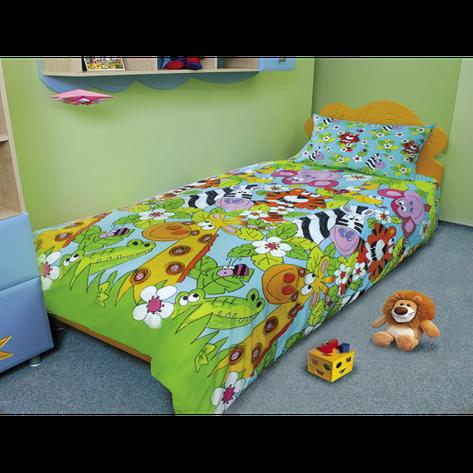 Недорогой комплект постельного белья детский  «ЗЕБРА-КАЙМАН» со склада, бязь., фото 2