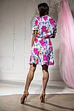 Платье летнее цветное и пышной юбкой, четыре цвета, р.46-48,50-52 Код 1020В, фото 2