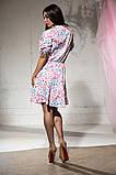 Платье летнее цветное и пышной юбкой, четыре цвета, р.46-48,50-52 Код 1020В, фото 6