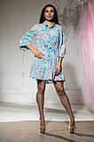 Платье летнее цветное и пышной юбкой, четыре цвета, р.46-48,50-52 Код 1020В, фото 7