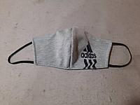 Захисна маска багаторазова двошарова тканинна