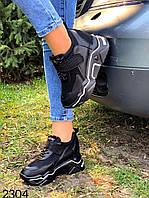Женские  кроссовки на платформе черные Хит 2020 р.38