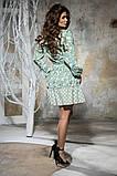 Комбинированное летнее платье с пышной юбкой, 5 цветов, р.44-46,48-50 Код 1005В, фото 2