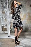 Комбинированное летнее платье с пышной юбкой, 5 цветов, р.44-46,48-50 Код 1005В, фото 4