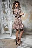 Комбинированное летнее платье с пышной юбкой, 5 цветов, р.44-46,48-50 Код 1005В, фото 6