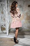 Комбинированное летнее платье с пышной юбкой, 5 цветов, р.44-46,48-50 Код 1005В, фото 8