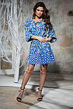 Комбинированное летнее платье с пышной юбкой, 5 цветов, р.44-46,48-50 Код 1005В, фото 9