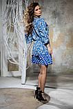 Комбинированное летнее платье с пышной юбкой, 5 цветов, р.44-46,48-50 Код 1005В, фото 10
