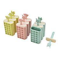 Формы для мороженого Зверята в наборе 3шт, размер 8,3х11,5см, пластик, набор для мороженного, кондитерский инвентарь, кондитерский инструмент