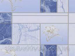 Обои бумажные моющиеся малахит  6557-03 для кухни, прихожей, ванной 0,53*10м