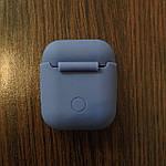 Чехол для AirPods Silicone Matte Blue, фото 2