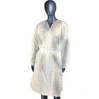 Одноразовый халат с пояском размер XL