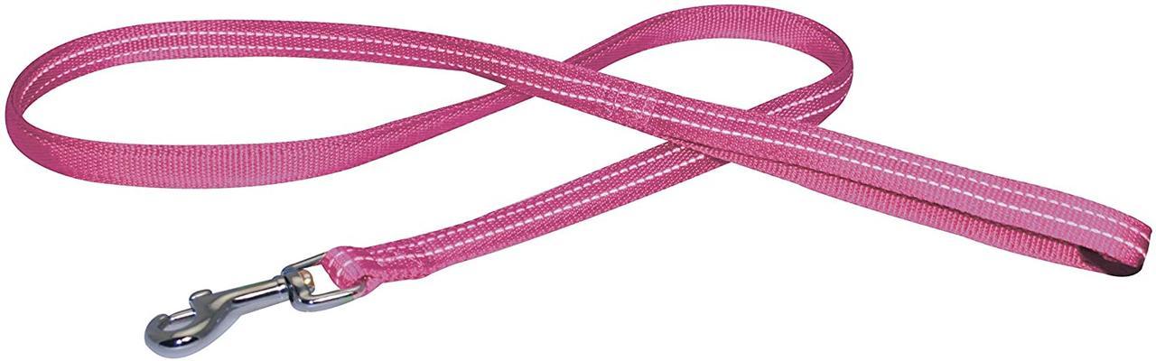 Поводок для собак SOFT REFLECTIVE светоотражающий, мягкий, розовый, нейлон