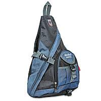 Рюкзак однолямочный DTR (нейлон, размер 48х34х13см) PZ-1159