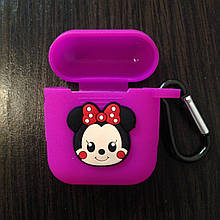 Чохол для AirPods Silicone 3D Minnie 1