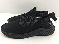 Летние кроссовки сетка чёрные мужские