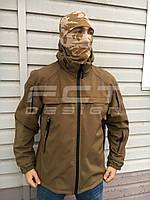 Куртка тактическая Патрол Софтшелл койот на сетке